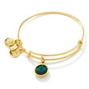 alex & ani gold emerald birthstone bracelet
